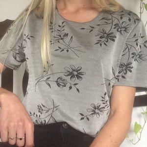 vintage metallic floral shirt
